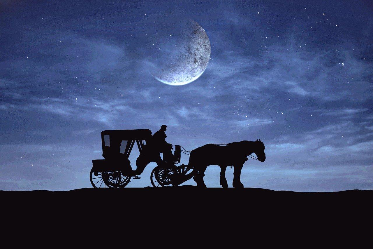 月明りの中の馬車