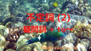 不定詞(2)